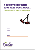 Wood Badge guidance for changing section